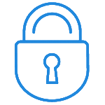 Padlock icon describing IT security services provided by Strata