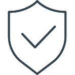 Shield icon describing securing complex environments - Cyber security solutions by Strata Security Solutions